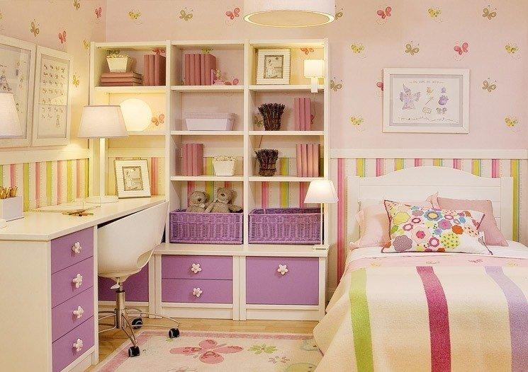 Дизайн мебели детской комнаты для девочки